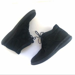 Ecco  black lace up booties sneakers